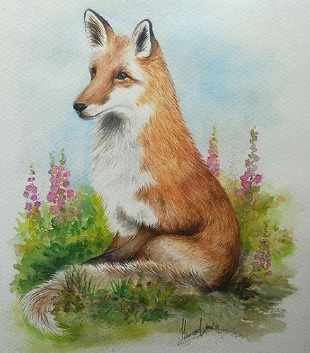 SOLD - Elegant Fox
