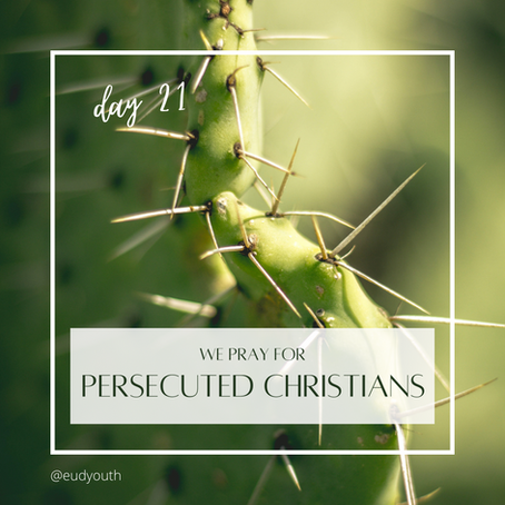 Day 21 · Let's pray for persecuted Christians
