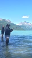 Fisherman in Lake Clark National Park