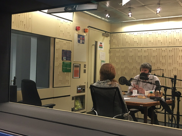 In the 'Music Matters' studio at BBC Broadcasting House with Tom Service talking about Baudelaire