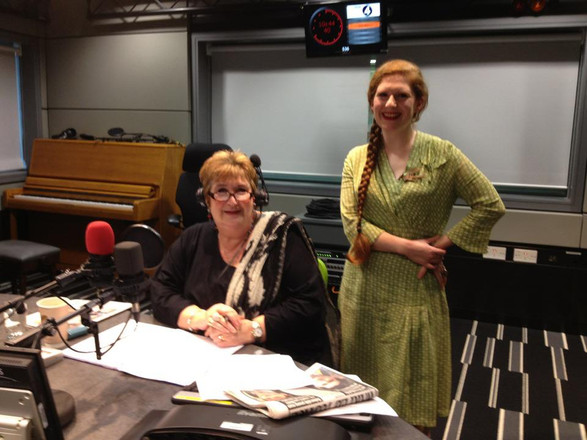 With Jenni Murray after appearing on Woman's Hour