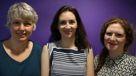 With Karin Hendrickson and Ivana Gavric in the BBC Radio 4 Woman's Hour studios, June 2018