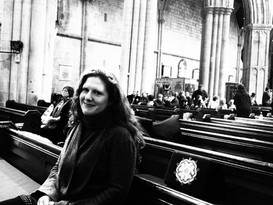 At Bridlington Priory during rehearsals for 'Sailing to the Marvellous'