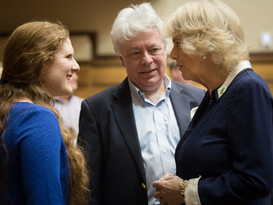Meeting the Duchess of Cornwall at the LCO/Music Juntion rehearsal of 'I am You, Brave and Strong', with conductor Christopher Warren Green (photo © Benjamin Ealovega)