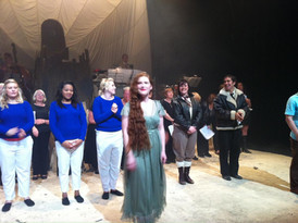 Taking a bow after the World Premiere of 'Amy's Last Dive'
