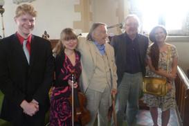 At Presteigne Festival after Fenella Humphreys performance of 'Suite No. 1'