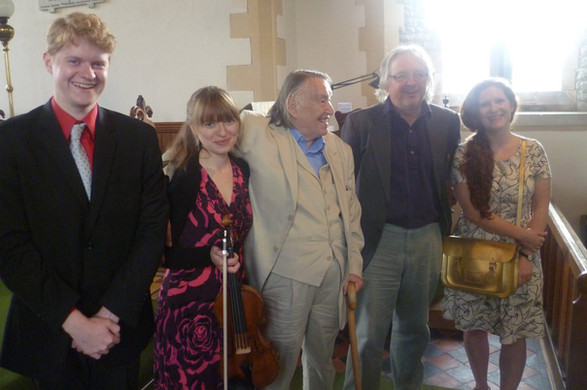 At Presteigne Festival after Fenella Humphreys performance of 'Suite No. 1'