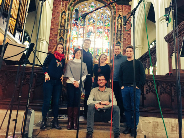 Recording 'Gaude et Laetare' with the Marian Consort, St. Michael's Highgate, January 2017