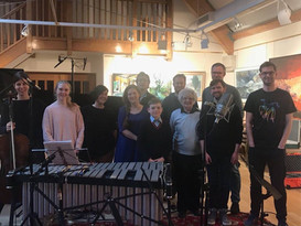 After the recording of 'Scenes from Autistic Bedtimes' at Champs Hill, March 2018