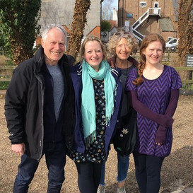 With John Constable, Libby Burgess and Di Sherlock in Aldeburgh on a residency (with Clare McCaldin, not pictured)
