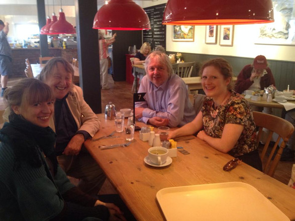 In Snape during a residency with  Fenella Humphreys, Gordon Crosse and Piers Hellawell