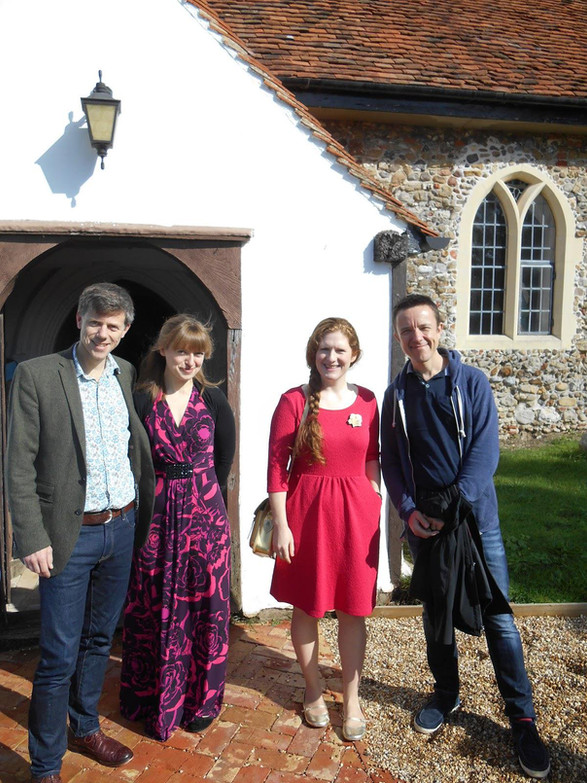 At the Roman River Festival with Orland Jopling, Fenella Humpreys and Adrian Sutton, September 2015