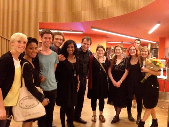 With student composers during a Rambert Summer Course