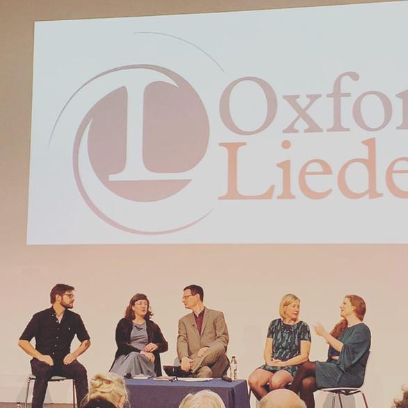 With James Neenan, Kelley Swain, John Holmes and Carola Darwin at the Oxford Lieder Festival, 2019
