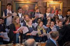 At the premiere of 'Beyond the Night Sky' at Gonville and Caius College, May 2017 (photo © Professor Sir Alan Fersht)