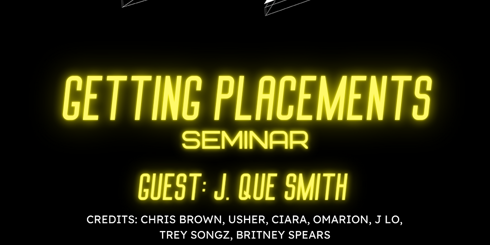 Getting Placements with J. Que Smith