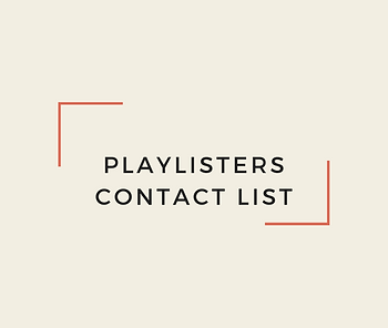 Playlisters' Contact Information