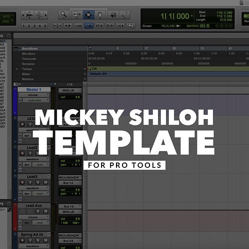 Mickey Shiloh Pro Tools Recording Template