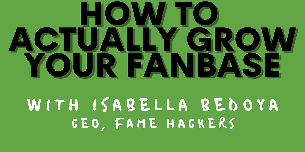 How to ACTUALLY Grow Your Fanbase