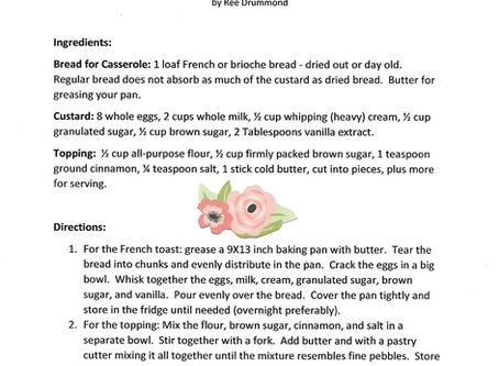 """""""SPOIL SOMEONE SPECIAL"""" Recipes - Overnight Baked French Toast Casserole"""