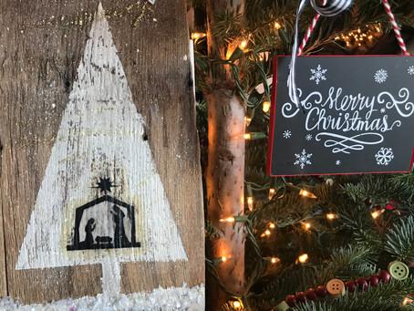 Snowy Nativity Wall Hanging