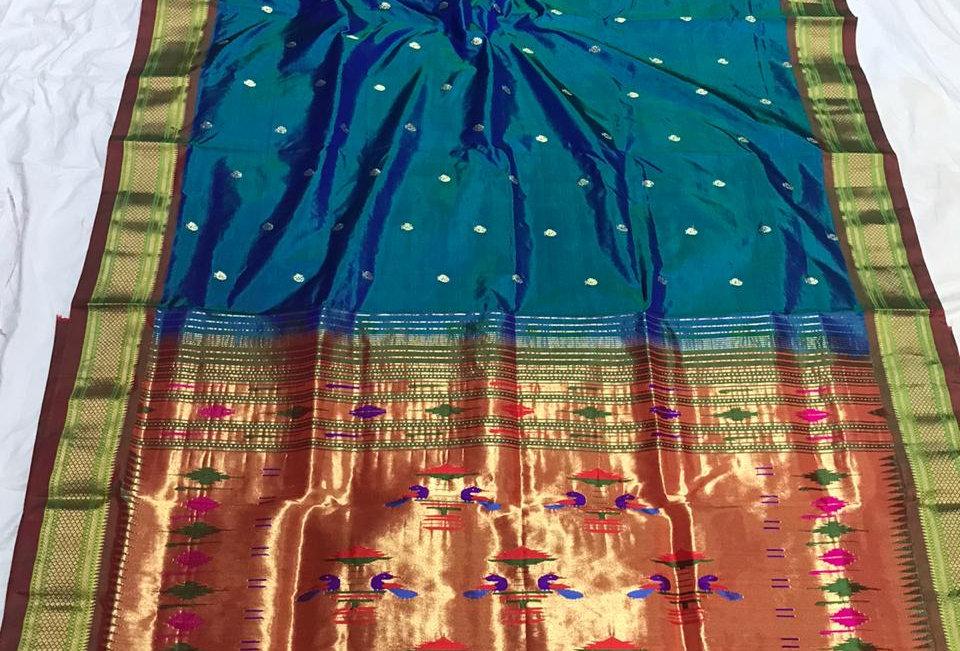 Swara-Paithani Double Padar Sarees with Blouse piece