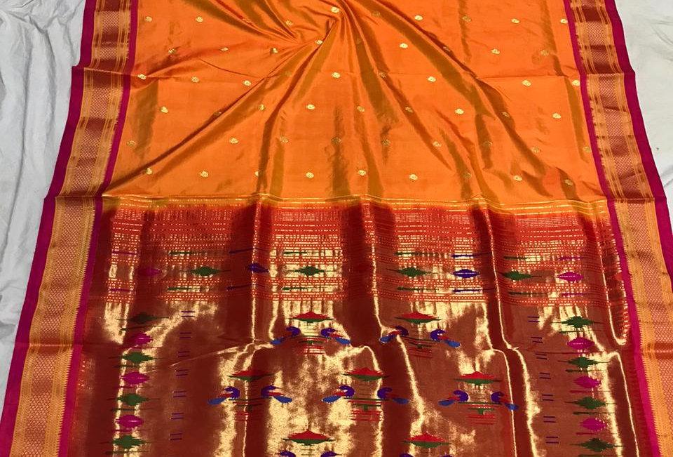 Swara-PaithaniDouble padar with blouse piece