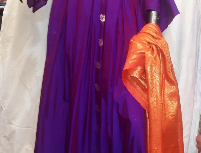 SWPG001 Designer Paithani Gown-Lavender