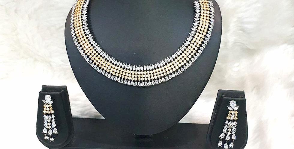 Imitation Diamond Studed Necklace