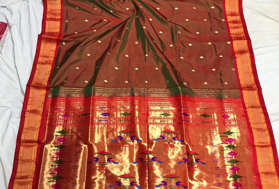 Swara-Paithani Double Padar Sarees with blouse piece