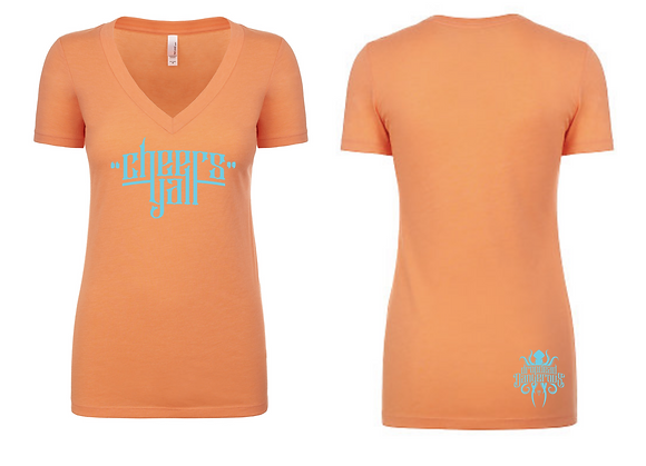 Ladies Coral V-Neck Tee