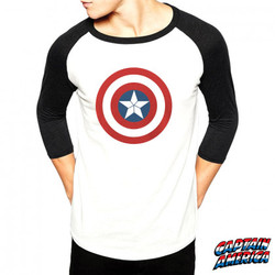 t-shirt-captain-america-manches-3-4-homme