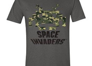 T-shirt classique gris SPACE INVADERS