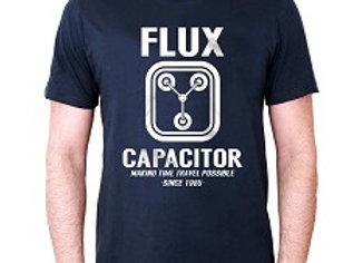 T-shirt classique marine FLUX CAPACITOR