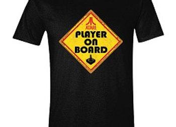 T-shirt classique noir ATARI PLAYER ON BORD