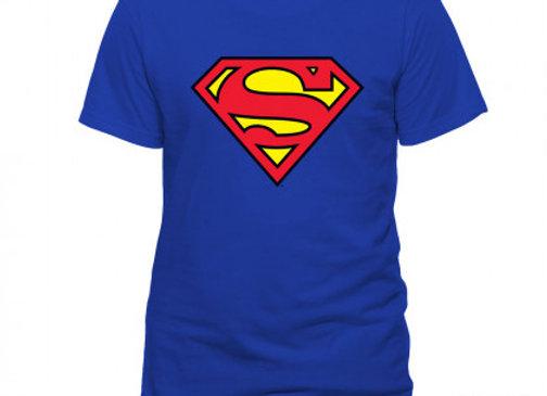 T-shirt classique bleu SUPERMAN