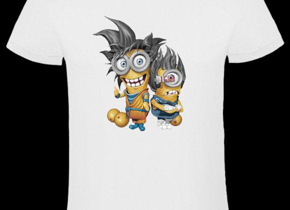 T-shirt 3D animé LES MINIONS DRAGON BALL Z