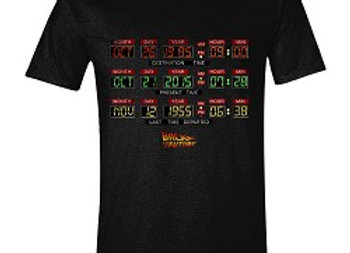 T-shirt classique noir TIME CLOCK
