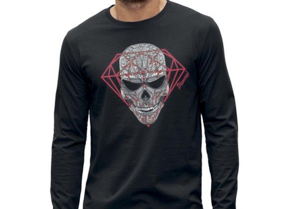 T-shirt classique manches longues TÊTE DE MORT DIAMANT