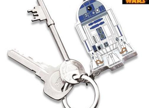Porte-clés Star Wars R2D2 lumineux et sonore
