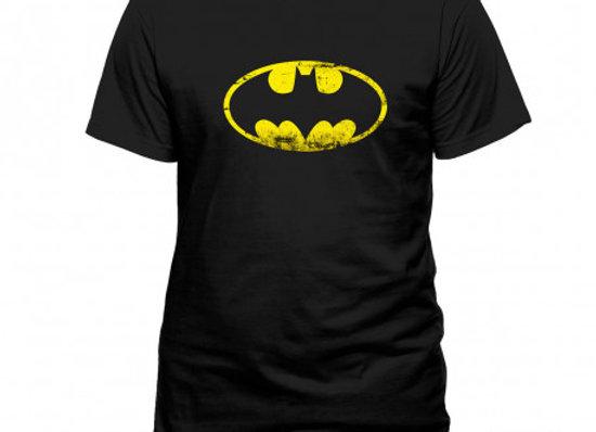 T-shirt classique noir BATMAN LOGO VINTAGE