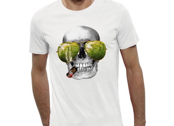 T-shirt 3D animé TÊTE DE MORT CASINO