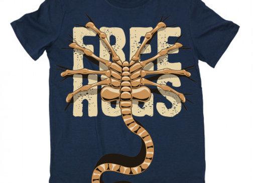 T-shirt classique bleu marine ALIEN FREE HUGS