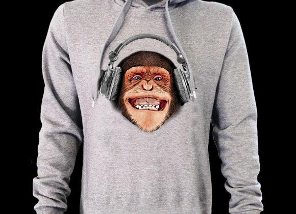 Sweat à capuche 3D classique SINGE DJ