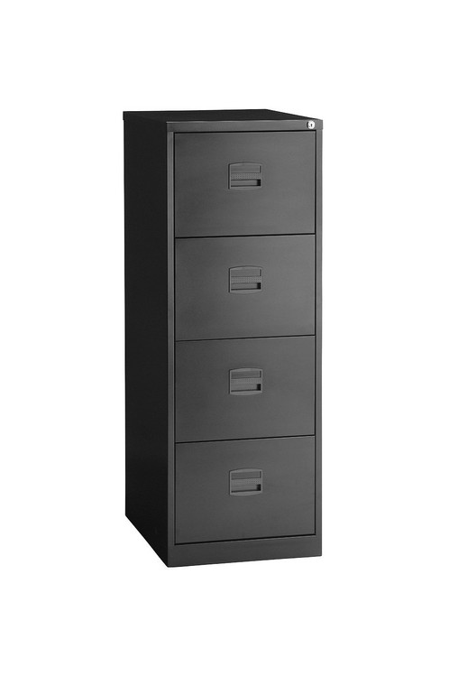 New 4 Drawer Foolscap Filing Cabinet Black Ace Office