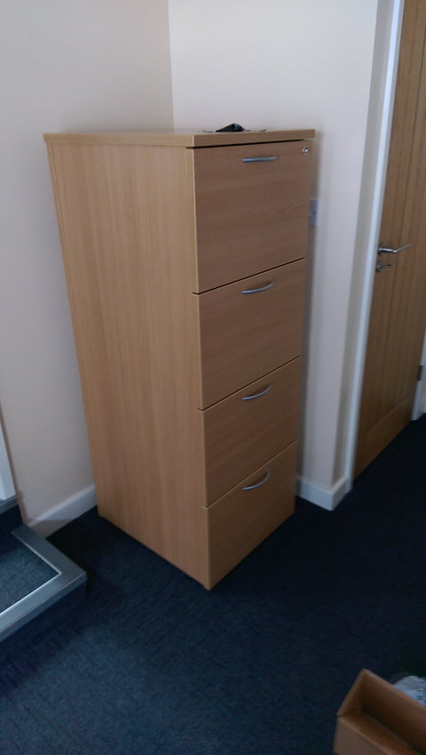 Used 4 Drawer Wood Effect Filing