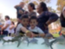 Niños aprenden sobre los océanos y la vida marina