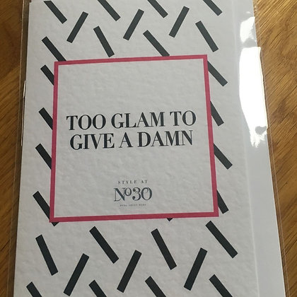 Too Glam Card