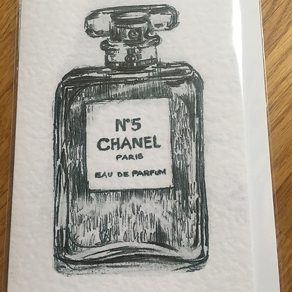 No. 5 Chanel Card