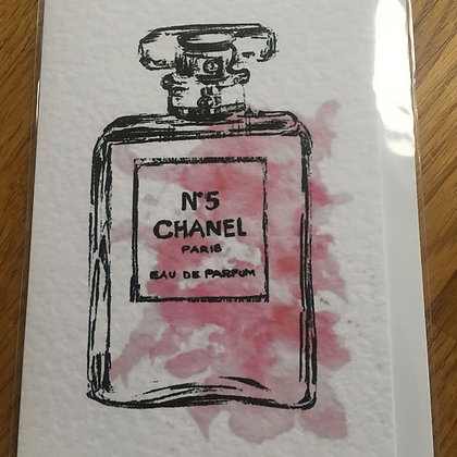 Pink No. 5 Chanel Card